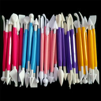 Wholesale Food Grade pen set of carve patterns or designs baked cake double sugar burin toolset sculpture group color with Retail Package