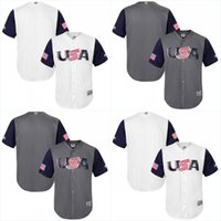 Wholesale Men s USA World Baseball Personalized Customized Jerseys With Any Name and Any Number Stitched Embroidery Logos Baseball Jerseys