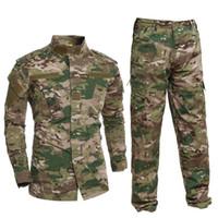 al por mayor acueducto-El USMC BDU inspiró el uniforme táctico del entrenamiento del engranaje del combate de Airsoft de la caza del ejército fija la camisa + los pantalones A-TACS FG Multicam ACU al aire libre se divierte el juego