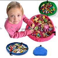 Wholesale Fedex DHL Free baby cm play mat toy storage bag Beach storage bag picnic toys storage bag Blanket Rug Boxes Lego Toys Organizer L181 M