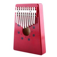 Wood african toy - Learning Toy Finger Thumb Piano Novelty Toys Wood Red Key Kalimba Mbira Educational African Music Toy DHL
