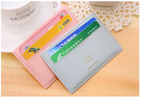 Wholesale Simple Fashion Men Women Credit Holder Candy Colors Card Case Hot Sale High Quality PU Leather Passport Holder DHL
