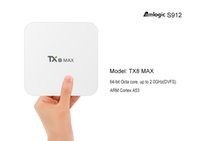 3GB 16GB White TX8 MAX Android 6.0 Smart TV box Amlogic S912 DDR4 RAM 3G+16G Support Miracast DLNA Media Player