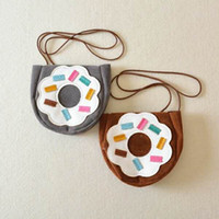 backpack accessories for kids - Christams Gifts Pu Suede Leather Baby Bags Decoration Accessories Mini Wallet IG Poprlar Item Purse Donuts Print Shoulder Bag For Kids