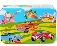 Wholesale Children s creative early education educational toys iron box puzzle make up cartoon animation wooden puzzle spread