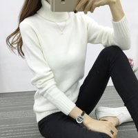 Wholesale Candy Color Women Turtleneck Sweater Winter Warm Pullover White Pink Colors Jumper High Quality Women Oversized Sweater