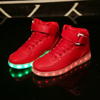 basketball usb - Christmas basketball shoes Led Shoes Man USB Light Up Unisex Sneakers Lovers For Adults Boys Casual Students Sports gold shoes