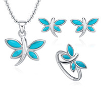 Wholesale the Unique style Jewelry set about stud earring and pendant with Fashion fair maiden temperament to party