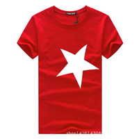 Wholesale The new summer Han edition round collar five pointed star man s T shirt short sleeve cultivate one s morality T shirt