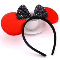 Wholesale 2016 fashion Mickey Mouse hoop Minnie bow hair hoop birthday mickey tire gift toys for children
