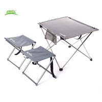 aluminium table set - BRS T03 Set Aluminium Alloy Outdoor Tables Stools Chairs Oxford Fabric Folding Table Desk Picnic For Camp Hiking