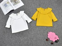 Wholesale kids clothing cotton children cute girls undershirts T shirt tops sweaters kids sweater girls comfortable long sleeve shirt outfit T