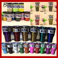 Wholesale In stock Camo YETI Rambler OZ OZ OZ OZ Vacuum Insulated Tumbler Yeti Mugs Insulated Stainless Steel Car Beer Cup