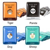 acid types - BIOAQUA Skin Care Sheep Panda Dog Tiger Four Types Optional Facial Mask Moisturizing Oil Control Cute Animal Face Masks