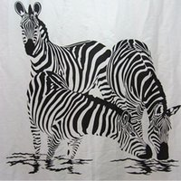Wholesale New Lively Zebra Pinto Bathroom Fabric Shower Curtain Free Hooks Home Decor
