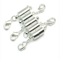 achat en gros de aimants pour fermoirs bijoux-Argent / Or Plaqué Magnétique Aimant Collier Fermoirs Cylindre en forme de Fermoirs pour Collier Bracelet Bijoux Bricolage
