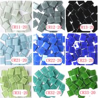 Wholesale 200 gram X mm Square Crystal Mosaic Tile Mixed Color DIY Mosaic Tile Soft Mosaic Tile