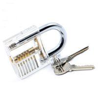 Wholesale Transparent Pick Cutaway Practice Door Lock View Padlock Locks Kit Visible Acrylic and Alloy Training Skill Tool For Locksmith g