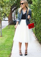 achat en gros de robe xl prix pas cher-Cheap Prix Tulle Jupes Pour Femmes Custom Made Jupe Jupes Longueur Eté Robes Casual Femmes Jupes jupe de la mode