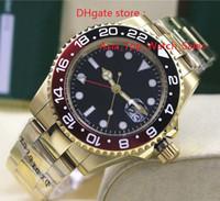 Reloj de alta calidad de lujo Asia 2813 Movimiento mecánico 40MM negro frontera de cerámica roja GMT 116718 16718 Automatic Mens Watches