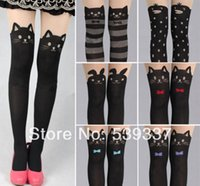 animal tattoo designs - Style Sexy Fashion Pantyhose Design Pattern Printed Penguin Rabbit Tattoo Tights High Stockings