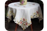 Wholesale Flower embroidered table cloth tablecloth cm inch