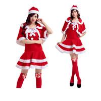 Wholesale Christmas Costume Women fashion Christmas Sexy Sleeveless Spandex Bunny Red Costume spandex Cosplay costume Christmas stockings Dress