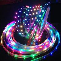 Wholesale m m DC5V individually addressable ws2812b led strip Black White ws2812ic LED pixels smart led light IP30 IP65 IP67