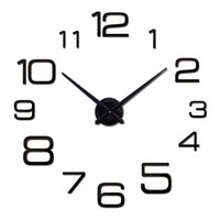 Wholesale New Diy Wall Clock Acrylic diy Clocks Quartz Watch Reloj De Pared Living Room Modern d Mirror Stickers Horloge Home Klok