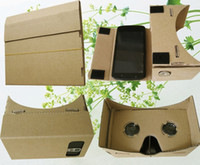 Wholesale DIY Google Boardcard Mobile Phone Virtual Reality D Glasses Unofficial Cardboard Google Cardboard VR Toolkit D Glasses