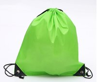 backpacks shops - Drawstring shopping bags Waterproof Thick Non woven Fabric Backpack Folding Shopping Bags