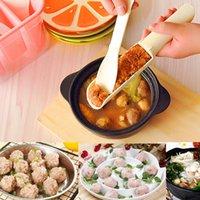 Proceso de pesca España-Creativo bricolaje albóndigas productor de gambas bola procesamiento Scoop Meatball pez Ball Meat Maker máquina herramientas de cocina