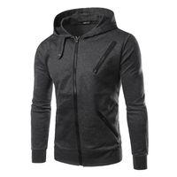 Wholesale Men Running Zipper Hoodie New Sports Sweatshirt Hot Training And Sports Suits Running Jackets