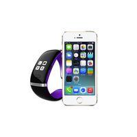 оптовых l12s запястье-Продажа L12S OLED сенсорный экран Bluetooth браслет наручные часы смарт-часы для IOS iPhone Samsung и Android телефон Ответ на вызов / SMS против Fitbit