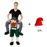 Wholesale The Dwarf Stuffed Ride On Me Stag Mascot Carry Piggy Back Fancy Dress Costume Funny Wacky pants Style