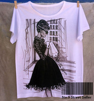 audrey hepburn shirt - Track Ship Vintage Retro Summer Fresh T shirt Top Tee Breakfast at Audrey Hepburn