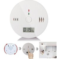 battery operated monitor - High Accuracy LCD LED Home Kitchen Carbon Monoxide Detector Fire Alarm Monitor Smoke Sensor Detector For Home Security battery operated