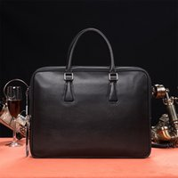 Wholesale 2016 Men Casual Busine Briefcasess Shoulder Bag Leather Messenger Bags Computer Handbag Bag Men s Travel Bags NB824