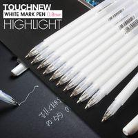 Wholesale TOUCHNEW mm White Highlighter Pen Sketch Fine Liner Pen Scribble Pen Paint Design Art Markers for Office School