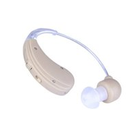 Wholesale USB Rechangeable Tone Hearing Amplifier BET Analog Hearing Aids Two Earplugs Audiophone S S Personal Ear Care