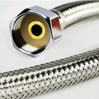 Metal ansi steel pipe - and retail Hot and cold faucet fflooding plumbing hose stainless steel knitted single head screw water pipe statuesque tube explos