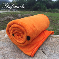 Wholesale English Letter Fashion Soft Blankets Orange Blanket Throw Blanket Office Bedsheet Plaids Plane Ship Train Use Soft x150cm