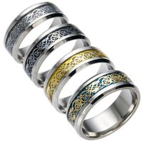 Wholesale luxury Fashion rings Stainless Steel Hollow Wedding Rings For Women Men Top Quality Gold Plated mens ring jewelry gold silver color