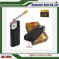 Wholesale 1080P DV Hidden Spy Lighter Camera Real Windproof Lighter Vdieo Recorder Portable DVR With Flashlight Portable Mini spy camera