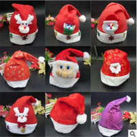 Wholesale Hot Fashion Christmas Hats For Children Christmas Santa Claus Hats Chriatmas Caps Christmas Gifts High Quality From alisky