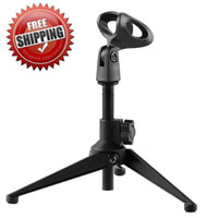 Wholesale Adjustable Metal Desktop Microphone Mic Stand Fits SM57 Beta58A Mic