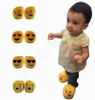 3D enfants emoji poop pantoufle unisexe 3D Emoji filles garçons enfants pantoufles chaud maison intérieur maison enfants chaussures mignon HHA858