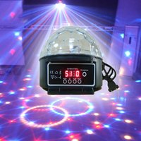 Wholesale V Laser Light Christmas Laser Projector Led Stage Lamp Sound Control Colors Magic Crystal Ball Disco Light Party Lights