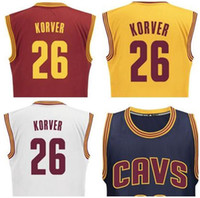 applied yellows - 2017 NEW Player Kyle Korver Jersey Blue Yellow Red White Hot Sale Applied Printed Style