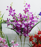 Wholesale New Artificial Fake orchid Flower Home Hotel Room Bridal Wedding Hydrangea Decor Real Touch